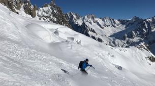 Backcountry Skiing-Chamonix Mont-Blanc-Vallée Blanche downhill skiing in Chamonix-1