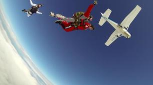 Skydiving-Stuttgart-Tandem skydive over Schwabisch Hall near Stuttgart-4
