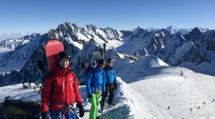 Backcountry Skiing-Chamonix Mont-Blanc-Vallée Blanche downhill skiing in Chamonix-3