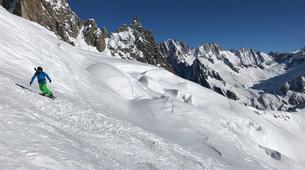 Backcountry Skiing-Chamonix Mont-Blanc-Vallée Blanche downhill skiing in Chamonix-6