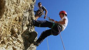 Rock climbing-Ariege-Cliff climbing initiation in the Ax Valley, Ariege-3
