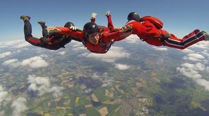 Parachutisme-Stuttgart-Tandem skydive over Schwabisch Hall near Stuttgart-8