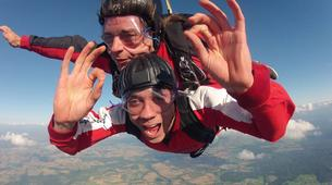 Parachutisme-Stuttgart-Tandem skydive over Schwabisch Hall near Stuttgart-2