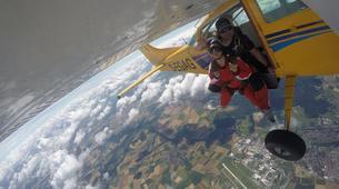 Parachutisme-Stuttgart-Tandem skydive over Schwabisch Hall near Stuttgart-14