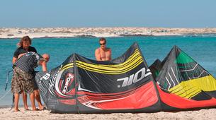 Kitesurfing-Corralejo, Fuerteventura-Private and semi private beginners kitesurfing course in Corralejo-14