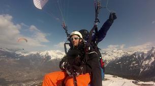 Paragliding-Samoëns, Le Grand Massif-Winter tandem paragliding over Samoens-3