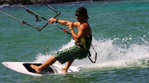 Kitesurfing-Corralejo, Fuerteventura-Private and semi private beginners kitesurfing course in Corralejo-1