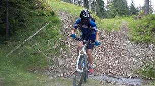 Mountain bike-Les 7 Laux-Downhill mountain bike course in the Alps near Grenoble-7