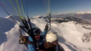 Paragliding-Samoëns, Le Grand Massif-Winter tandem paragliding over Samoens-4