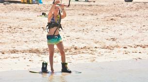 Kitesurfing-Corralejo, Fuerteventura-Private and semi private beginners kitesurfing course in Corralejo-11