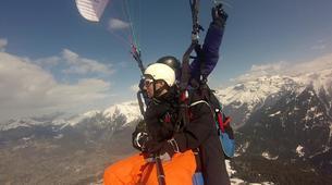 Paragliding-Samoëns, Le Grand Massif-Winter tandem paragliding over Samoens-6
