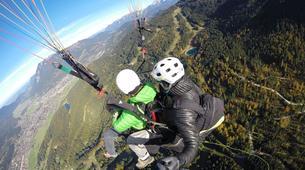Gleitschirmfliegen-Garmisch-Partenkirchen-Tandem paragliding over Garmisch-Partenkirchen-2