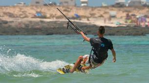 Kitesurfing-Corralejo, Fuerteventura-Private and semi private beginners kitesurfing course in Corralejo-3