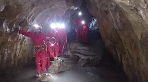 Caving-Les Carroz, Le Grand Massif-Caving excursion in the cave of Balme, Haute-Savoie-3