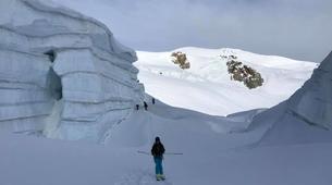 Ski touring-Chamonix Mont-Blanc-Ski touring day trip in the Col d'Entrèves, Chamonix-6
