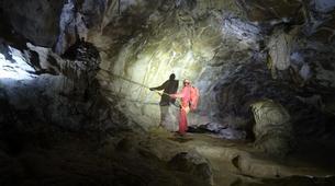 Caving-Les Carroz, Le Grand Massif-Caving excursion in the cave of Balme, Haute-Savoie-1