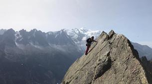 Rock climbing-Chamonix Mont-Blanc-Discover multi-pitch climbing in Monte Coudrey, Aosta Valley-2