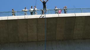 Saut à l'élastique-Melgaço-Double rope swinging from the Arbo Bridge in Melgaço-3