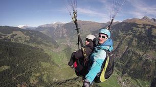Paragliding-Verbier-Tandem paragliding over Verbier-1