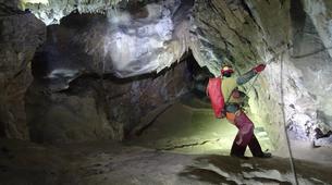 Caving-Les Carroz, Le Grand Massif-Caving excursion in the cave of Balme, Haute-Savoie-2