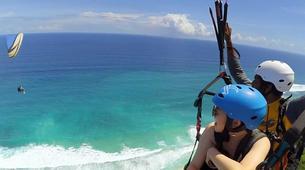 Paragliding-Bali-Tandem paragliding flight near Uluwatu, Bali-2