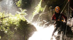 Canyoning-Imst-Family canyoning at Piburger Gorge in the Tirol-6