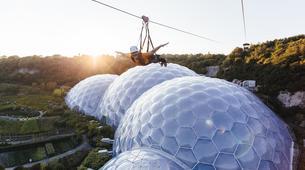 Zip-Lining-Cornwall-600 metres ziplining in Eden Project Gardens-4