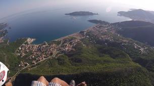 Paragliding-Budva-Tandem paragliding flight near Budva, Montenegro-4