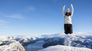 Snowshoeing-Stavanger-Winter/Spring Hike to Preikestolen (Pulpit Rock) in Ryfylke-7