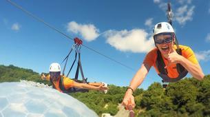 Zip-Lining-Cornwall-600 metres ziplining in Eden Project Gardens-1