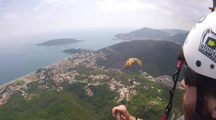Paragliding-Budva-Tandem paragliding flight near Budva, Montenegro-5