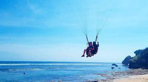 Paragliding-Bali-Tandem paragliding flight near Uluwatu, Bali-1
