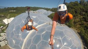 Zip-Lining-Cornwall-600 metres ziplining in Eden Project Gardens-6