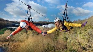 Zip-Lining-Cornwall-600 metres ziplining in Eden Project Gardens-3