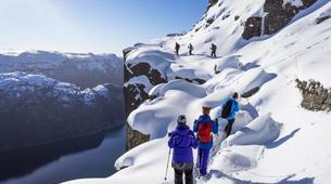Snowshoeing-Stavanger-Winter/Spring Hike to Preikestolen (Pulpit Rock) in Ryfylke-1