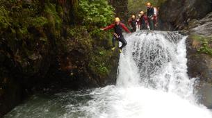 Canyoning-Imst-Beginner's canyoning at Alpine Roses Gorge in the Tirol-5