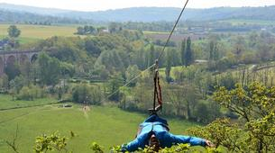 Zip-Lining-Clécy-Giant zip lining in Clécy, Normandy-4