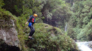 Canyoning-Langevin River, Saint-Joseph-Aquatic hiking on the Langevin river in Reunion Island-1