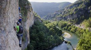 Via Ferrata-Gorges du Tarn-Via ferrata of La Canourgue, Sainte-Enimie, Lozère-5