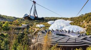 Zip-Lining-Cornwall-600 metres ziplining in Eden Project Gardens-2