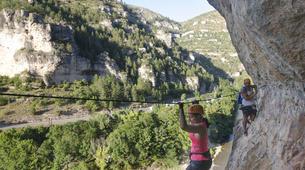 Via Ferrata-Gorges du Tarn-Via ferrata of La Canourgue, Sainte-Enimie, Lozère-6