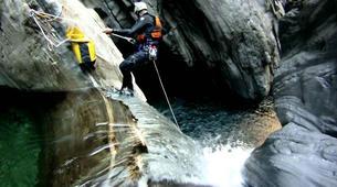 Canyoning-Laino Borgo-Canyoning down river Iannello in Laino Borgo, Calabria-2