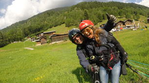 Paragliding-Brig-Glis-Tandem paragliding in Fiesch over the Aletsch Glacier-5
