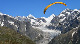 Paragliding-Brig-Glis-Tandem paragliding in Fiesch over the Aletsch Glacier-1