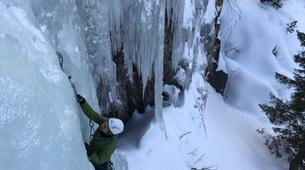 Ice Climbing-Vezza d'Oglio-Ice climbing on the Pian di Neve glacier in the Adamello Massif-2