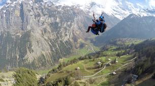 Paragliding-Ticino-Tandem paragliding from Monte Tamaro in Ticino-4