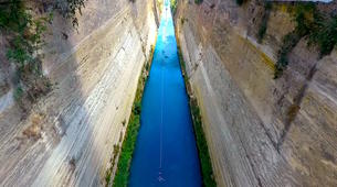 Saut à l'élastique-Corinth-Bungee jumping in the Corinth channel, Greece-4