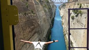 Saut à l'élastique-Corinth-Bungee jumping in the Corinth channel, Greece-1