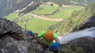 Klettersteig-Villach-Via Ferrata to Fallbach Waterfall, near Fischertratten-6