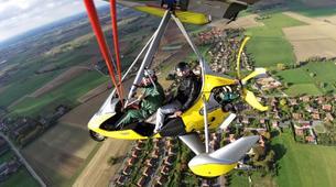 Microlight flying-Lille-Microlight initiation flight near Lille-2